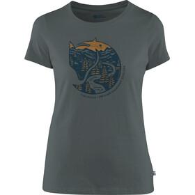 Fjällräven Arctic Fox Print - Camiseta manga corta Mujer - gris